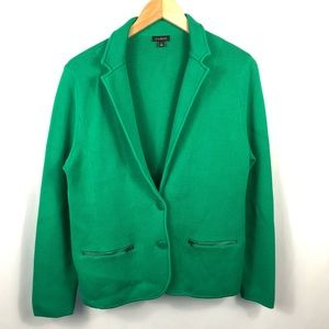 Talbots Kelly Green Thick Knit Blazer